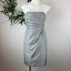 J. Crew gray semi-formal sleeveless gown